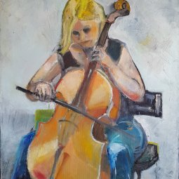 Cello girl 80 X 60